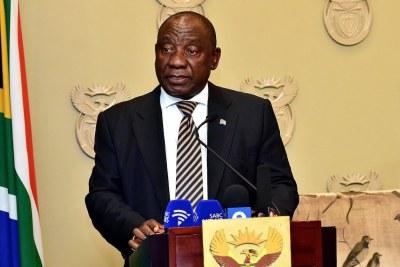 President Cyril Ramaphosa (file photo)