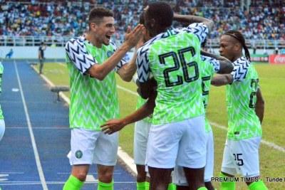 Nigeria's Super Eagles play DR Congo.