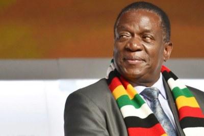 President Emmerson Mnangagwa (file photo).