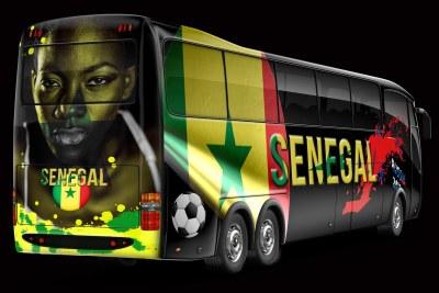 Coupe du monde de football - Bus des joueurs du Sénégal