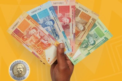 The new banknotes from the South African Reserve Bank commemorating former president Nelson Mandela.