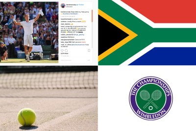South Africa's Kevin Anderson beat Roger Federer in the Wimbledon quarter-finals