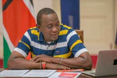 President Uhuru Kenyatta fields questions from Kenyans during a past virtual interaction on Facebook from State House, Nairobi.