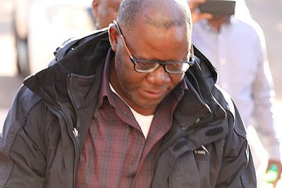 Tendai Biti appears at the Harare magistrate's court.