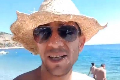 "Man causes fury with ""K-word"" beach speech."