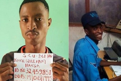 The suspect William Hanga Mwazombo.