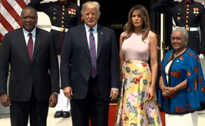 President Trump Meets Kenyatta at White House