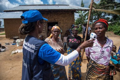 African Region and World Health Organization (WHO) working to contain Ebola.