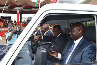 President Uhuru Kenyatta and his Deputy William Ruto (file photo).
