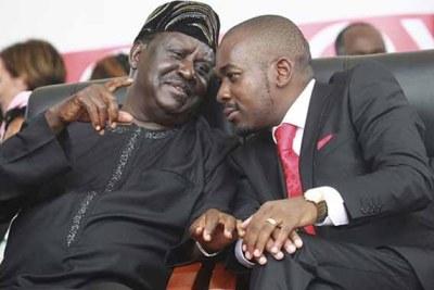 If Nelson Chamisa goes ahead, he will join the ranks of Kenya's opposition leader Raila Odinga and Uganda's Kizza Besigye (file photo).