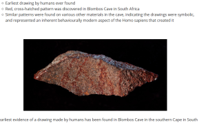 Earliest Human Drawing Found in South African Cave