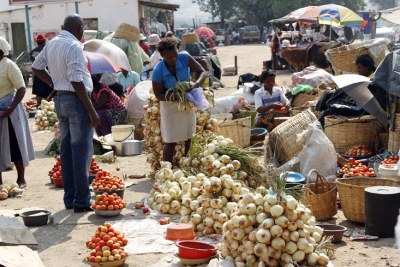 Vendors in Zimbabwe (file photo).