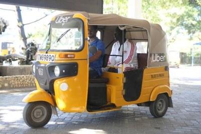 uberPOA tuk tuk in Mombasa.