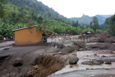 The mudslides followed a heavy downpour that lasted for over four hours on Thursday October 11, 2018.
