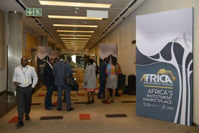 Day 1 of the Africa Investment Forum at the Sandton Convention Centre in Johannesburg.