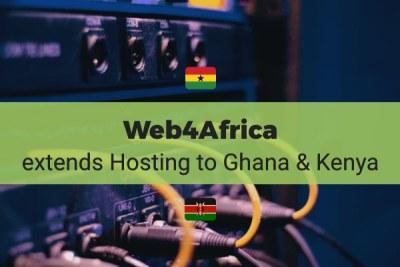 Web4Africa extends Hosting Infrastructure to Ghana & Kenya
