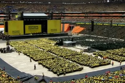 The Second Annual National Day of Prayer held at the FNB Stadium in Soweto on November 25, 2018.