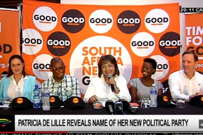 Former City of Cape Town mayor Patricia de Lille launchs her new political party, GOOD.