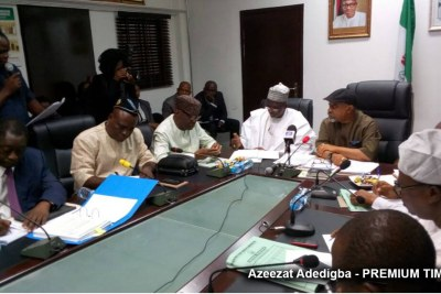 ASUU strike: Lecturers meet Nigerian govt delegation (file photo).