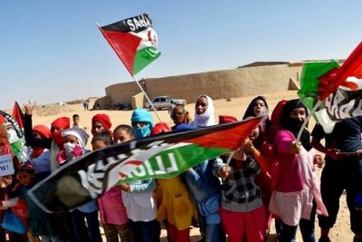 Des enfants au Sahara Occidental