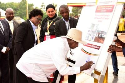President Yoweri Museveni launches a new anti-corruption campaign.