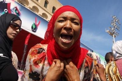 Femmes libyennes lors de la révolution du printemps arabe.