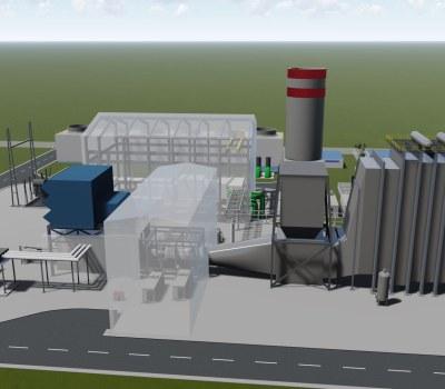 Visuels de la prochaine centrale électrique d'Atinkou de 390 MW, en Côte d'Ivoire