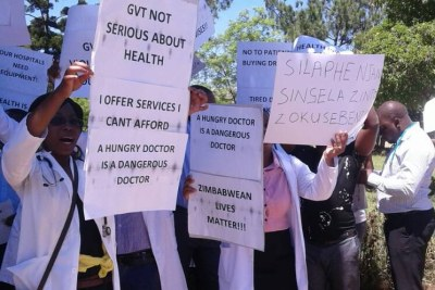 Zimbabwe doctors on strike.