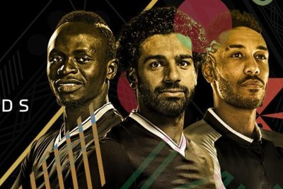 L'attaquant sénégalais de Liverpool, Sadio Mané, son coéquipier, l'Egyptien Mohamed Salah et le Gabonais Pierre-Emerick Aubameyang, sont les trois finalistes du