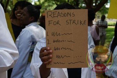 Striking doctors (file photo).