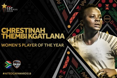 Thembi Kgatlana also won Goal of The Year at the award ceremony in Senegal.