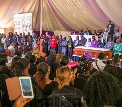 In Pictures, The Burial of Kenyan Legendary Music Producer Bruce Odhiambo