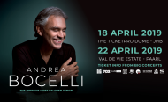 Italian Opera Singer Andrea Bocelli to Tour South Africa