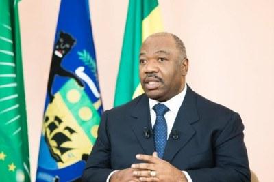 Le président Ali Bongo lors de ses vœux télévisés aux Gabonais
