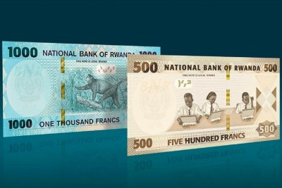 Specimen of the new notes.