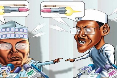 Atiku Abubakar and President Muhammadu Buhari.
