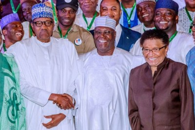 Buhari, Atiku, other presidential candidates sign another peace accord.
