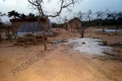 Destroyed homes in Kajuru, Kaduna.