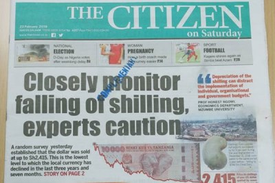 Tanzania has suspended The Citizen newspaper for seven days.