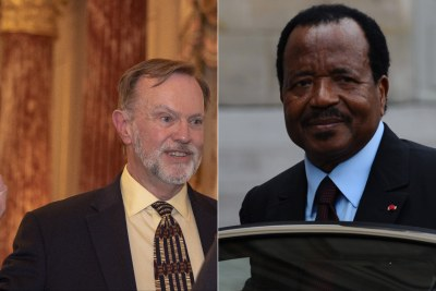 U.S. Assistant Secretary of State for Africa Tibor Nagy and President Paul Biya of Cameroon