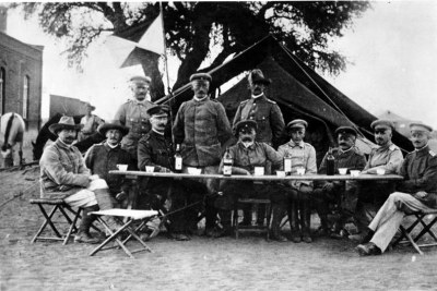 German troops in Keetmanshoop during the Herero uprising in 1904.