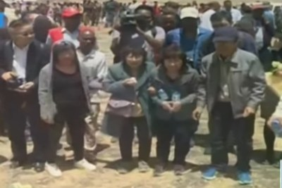 Family members visit the site of the Ethiopian Airlines crash (file photo).