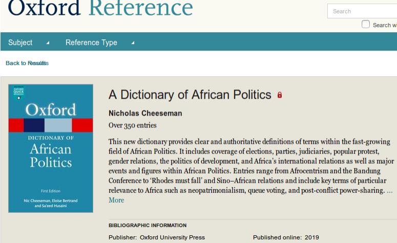 Africa: New Dictionary Provides Nuanced Insights Into Language of Politics