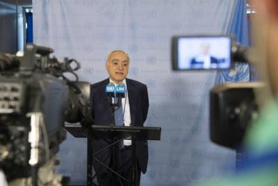 Le Représentant spécial du Secrétaire général et chef de la Mission d'appui des Nations Unies en Libye (MANUL), Ghassan Salamé, se confie à la presse.