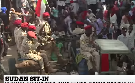Huge Rally Calls for Civilian Rule in Sudan