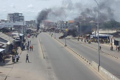 Manifestations dans les rues de Cotonou