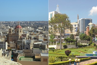 From left: Rabat, capital city of Morocco and Kigali, capital city of Rwanda,.