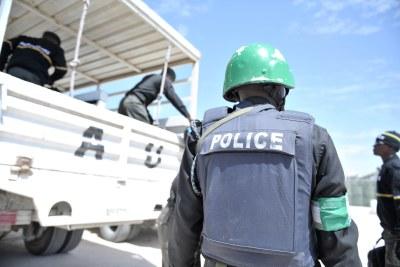 Officier de la police au Nigeria