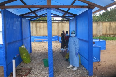 Ebola treatment centre at Beni Hospital, North Kivu, DR Congo.