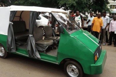 The five-seater electric car produced by the Engineering Faculty of University of Nigeria, Nsukka.